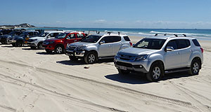 Isuzu  Pay dirt: Isuzu Ute Australia's I-Venture Club initiative has proved popular with D-Max and MU-X owners, encouraging many to make their first foray into off-road driving.