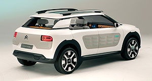 Citroen 2015 C4 Cactus Air blower: The Cactus is powered by Citroen's Hybrid Air system that combines a petrol engine with a compressed air propulsion system.