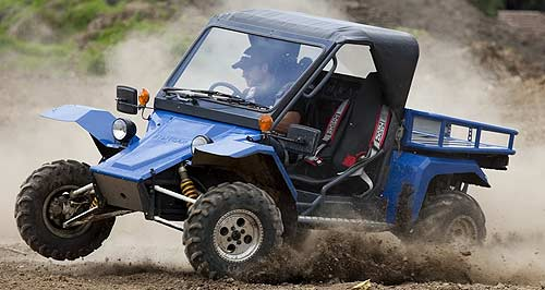 Tomcar  Action stations: A short-wheelbase Tomcar TM-2 is put through its paces in Melbourne ahead of local production from late 2012.