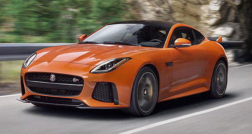 Jaguar F-Type SVRF for fast: Jaguar's new F-Type halo variant, the SVR, will go into production in May for Australia, with first deliveries in the third quarter of 2016.