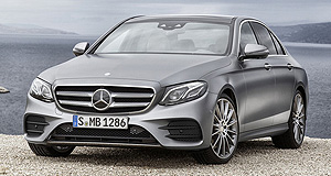 Mercedes-Benz 2016 E-Class Family ties: Continuing with the same design language that made its other luxury sedans a hit, Mercedes' next-generation E-Class will look right at home next to its C-Class and S-Class siblings.