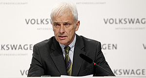 "Volkswagen  Green plan: Volkswagen Group CEO Matthias Mueller addressed staff in Brussels this week, announcing that the company was using the diesel emissions crisis to ""fundamentally realign the group""."
