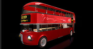 Aston Martin  All aboard: Following the establishment of a dedicated consulting branch, Aston Martin's name may be applied to all manner of vehicles, such as this London Bus concept it assisted with, in partnership with Foster and Partners.