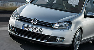 Volkswagen 2013 Golf Lucky seven: The new Volkswagen Golf will be bigger, lighter and more frugal than the current model, although its looks remain a mystery (note: current Mk6 model pictured).