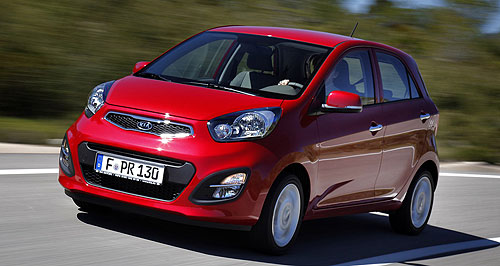 Kia 2014 Picanto Hot in the city: Kia's cutesy Picanto sub-light hatchback has done well for the brand overseas but the South Korean company has yet to prove it can make money Down Under.