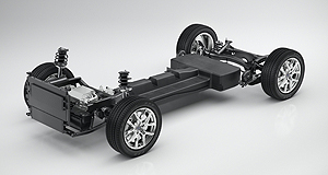 Volvo  All the way with CMA: Volvo's Compact Modular Architecture (CMA) was presented in Shanghai as a technical study with the battery electric powertrain on-board. The question now is whether it will first appear as a small passenger car or SUV.