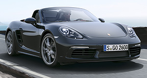 Porsche Boxster Four the better: A turbocharged four-cylinder is all good news for the Boxster says Porsche, with power, torque and acceleration up, but emissions and fuel use down.