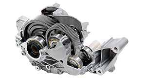 General News Electric Vehicles A fine mesh: GKN says its latest eAxle gearbox is the perfect match for C-segment vehicles and can even accommodate four-wheel drive.