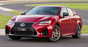 Lexus GS FF word: The GS is the latest Lexus to get the F treatment and was benchmarked against its RC F coupe stable-mate.