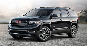 GMC 2016 Acadia Weight watcher: GMC's all-new Acadia large SUV is believed to sit on General Motors' new C1XX crossover vehicle platform that is likely to be shared with a forthcoming Opel/Holden flagship SUV.