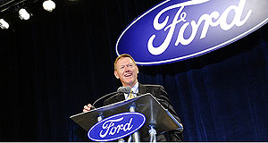 Ford  Any colour, as long as it is black: Ford CEO Alan Mulally has presided over Ford's return to profit.