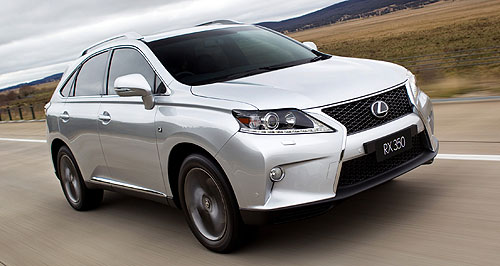 Lexus RX rangeLexus to the four: Lexus has joined Mercedes-Benz in offering a four-cylinder entry-level variant of its luxury SUV.
