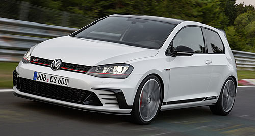 Volkswagen 2016 Golf GTI 40 yearsLife begins at 40: Volkswagen could not use the Clubsport name in Australia because of the HSV model, so it will be called the Golf GTI 40 Years.