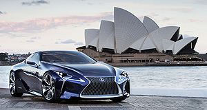 Lexus 2017 LC True Blue: The LF-LC Blue concept was revealed on Australian shores at the final international motor show in 2012.