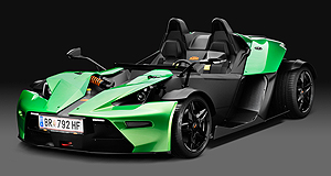 KTM X-Bow RNumbers game: At just 790kg, KTM's all-carbon X-Bow uses an Audi-fied version of VW's EA888 two-litre engine to make plenty of power.