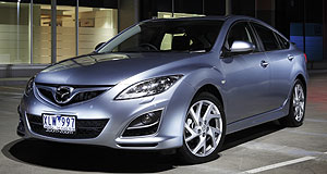 Mazda 2013 Mazda6 Plant switch: Mazda will produce North America's next-generation Six at its Hofu plant in Japan (current Mazda6 shown).