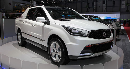 SsangYong 2012 SUT 1 Around the corner: The SsangYong SUT1 has been confirmed for Australia and will arrive in local showrooms to replace the Actyon Sports in the first half of 2012.