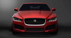 Jaguar 2015 XE Here it comes: This is the first official look at Jaguar's forthcoming XE mid-size sedan, which will have a sporting feel for a mainstream executive car.