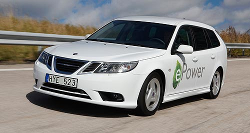 Saab 2015 9-3 e-PowerSpace age: Saab claims that its 9-3 ePower is the first all-electric car to offer the space and comfort of a wagon.
