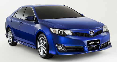 Toyota 2011 Camry In blue: Toyota Australia will commence sales of its locally-built Camry from November, promising more power, safety and interior space.