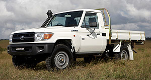 Toyota LandCruiser 70 Update: The venerable Toyota LandCruiser 70 Series gets airbags in latest revision.