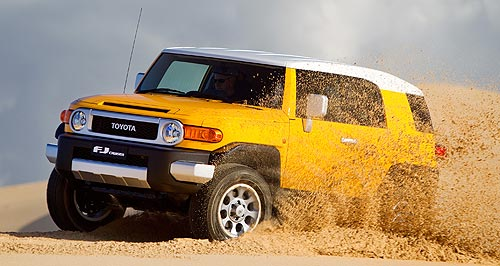 Toyota FJ Cruiser Number five: Toyota has released its FJ Cruiser after a five-year wait, bringing its Australian SUV range up to five models.
