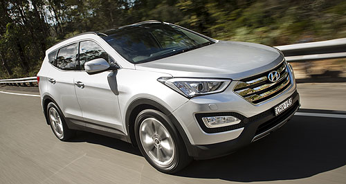 Hyundai Santa Fe Eye of the storm: Hyundai calls the chunky design theme of its new Santa Fe 'Storm Edge'.