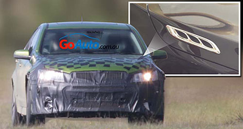 Holden 2016 Commodore It's a sign: Holden's camouflaged Series II Commodore appears to have Buick-style vents on the bonnet.