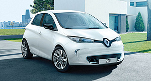 Renault 2013 Zoe Fixed position: Renault believes its Zoe electric hatchback will spur EV sales around the world.