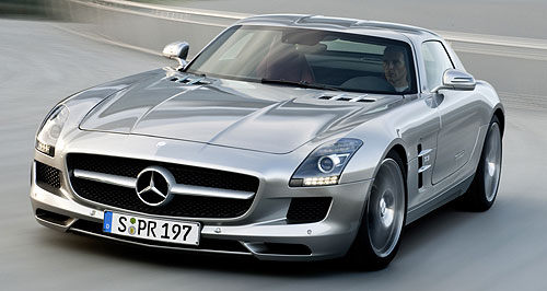 Mercedes-Benz 2010 SLS AMG Wing and a prayer: The Mercedes-Benz SLS Gullwing opens the door to motoring with mojo.