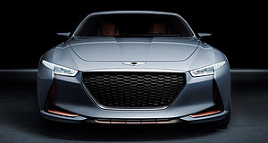 Market Insight Market Insight 2016 Pointy end: The 'New York Concept' previews the 2017 Genesis G70 that will take on the Mercedes C-Class, BMW 3 Series, Audi A4 and others in the all-important mid-size prestige segment.