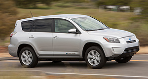Toyota 2012 RAV4 EVOn a charge: Toyota's all-electric RAV4 EV was a collaboration between the Japanese giant and California EV car-maker Tesla.