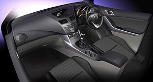 Mazda 2011 BT-50 Beautalitarian: The interior of the new, more lifestyle-oriented BT-50 looks more suited to a weekend at a camp site than a lifetime on construction sites.