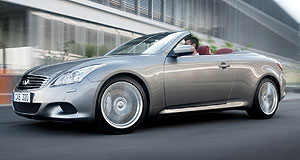 Infiniti 2012 G RangeSix at the G: Infiniti's G37 coupe and convertible are both powered by a 3.7-litre petrol V6 engine related to that of the Nissan 370Z sportscar.