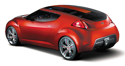 Hyundai 2011 Veloster Replacement: The Hyundai Veloster coupe - shown here in 2007 concept form - is set to replace the Tiburon next year.