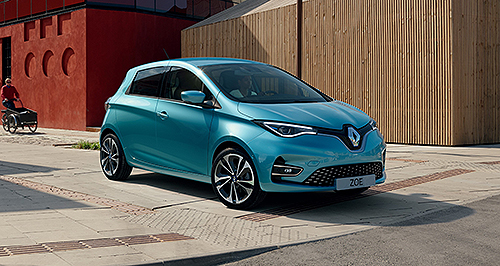 Renault gives full-electric Zoe a facelift   GoAuto